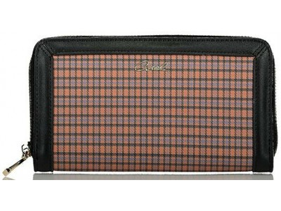 Axel Hezel wallet check pattern 1101-1284 025 camel