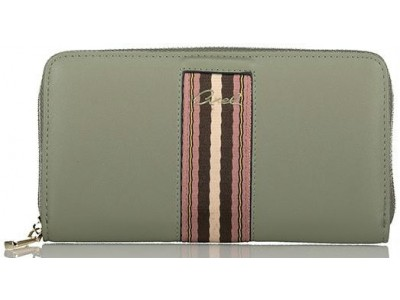 Axel Callie Zip wallet with webbing center 1101-1275 569 gravity grey