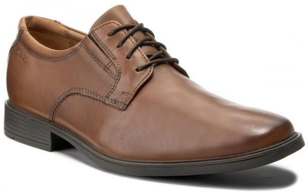 Clarks Tilden Plain 26130097 dark tan leather