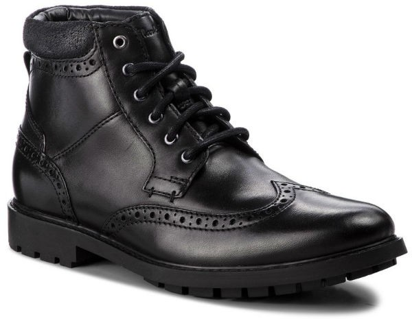 Clarks Curington Rise 26136853 blk smooth leather