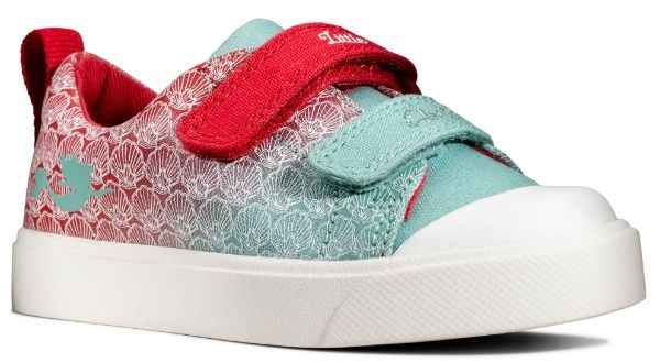Clarks City shell T 26149599 red interest