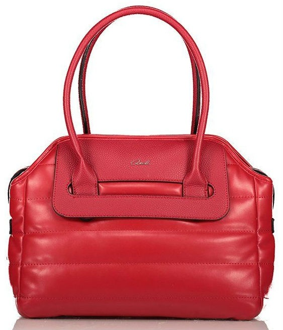 Axel Poppy handbag with horizontal stitching 1010-2342 red