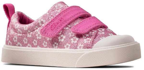 Clarks City bright T 26149090 pink floral