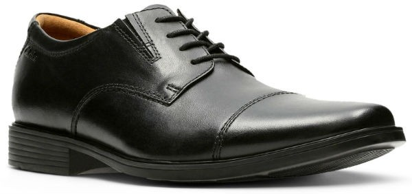 Clarks Tilden Cap 26110309 black leather