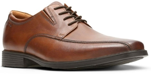 Clarks Tilden Walk 26130095 dark tan leather