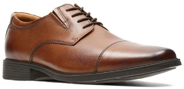 Clarks Tilden Cap 26130096 dark tan leather