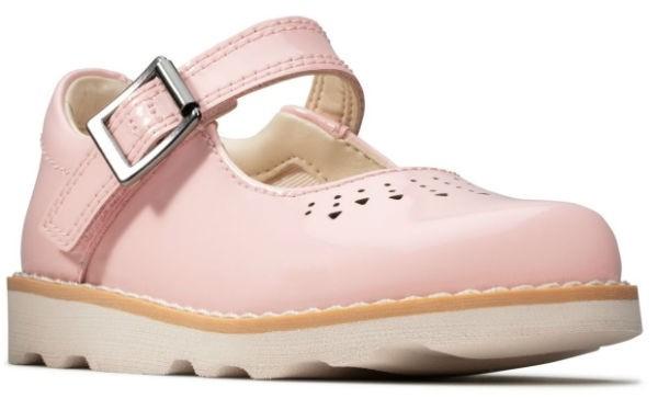 Clarks Crown Jump K 26143351 pink patend