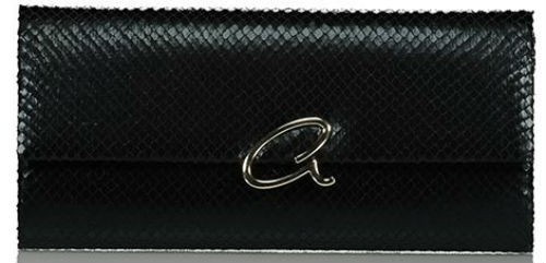 Axel Capella envelope bag with snake texture 1005-1216 003 black