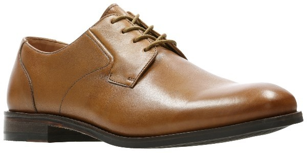 Clarks Edward Plain 26139536 tan leather