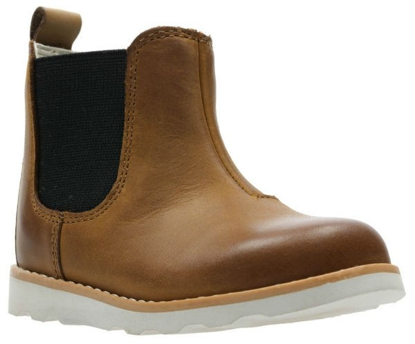 Clarks Crown Halo T 26145888 tan leather