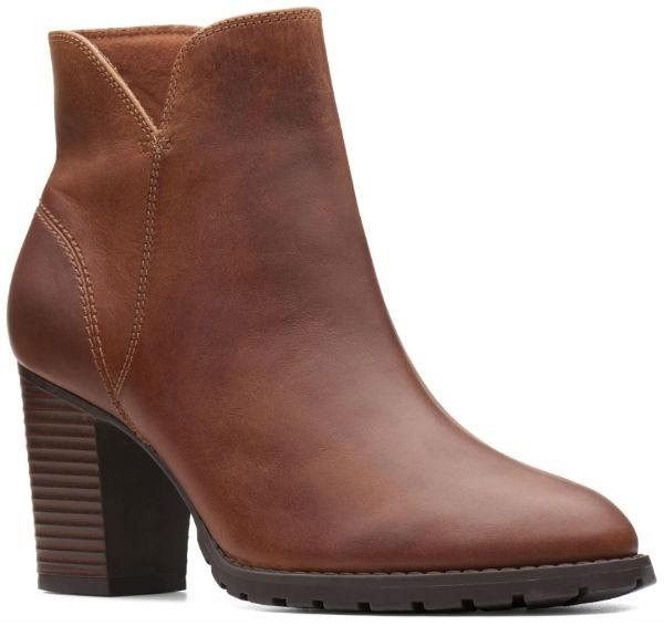 Clarks Verona Trish 26137244 dark tan leather