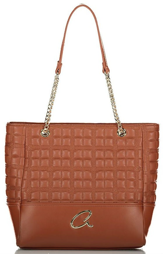 Axel Selina shoulder bag quilted chain 1010-2518 016 brown