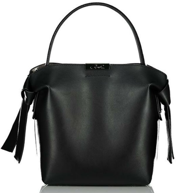 Axel Selma shoulder bag with knot 1010-2475 003 black