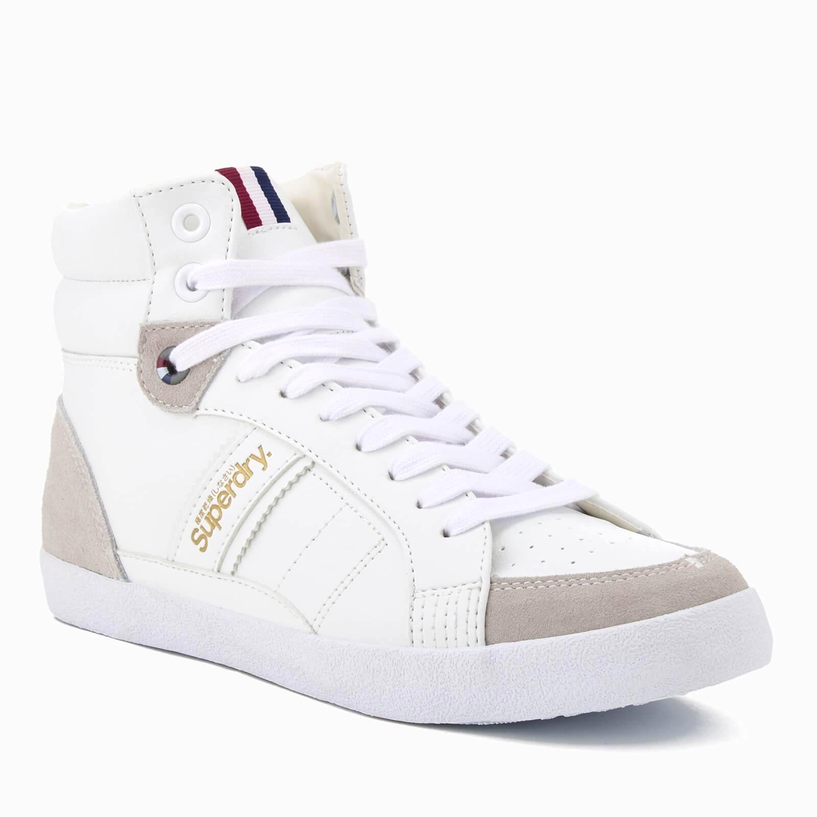 Superdry White Super Sleek Hi top Trainers