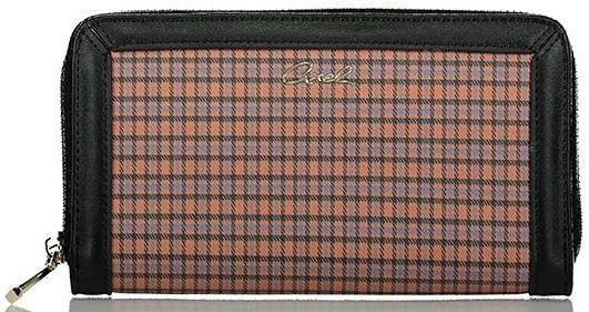 Axel Hezel wallet check pattern 1101-1284 025 camel