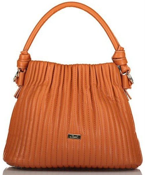 Axel Zoey bag with vertical stitching 1020-0407 025 camel