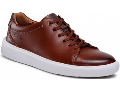 Clarks Cambro Low 261581257 dark tan leather