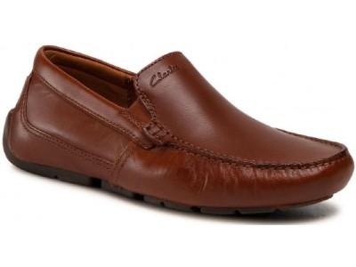 Clarks Markman Plain 26158703 dark tan leather