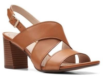 Clarks Jocelynne Bao 261598174 Tan Leather