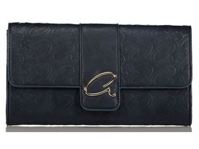 Axel Leoni evening bag with flap 1005-1186 navy