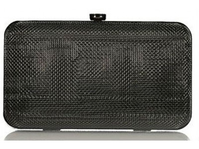 Axel Fidela mesh metal clutch bag 1005-1201 black