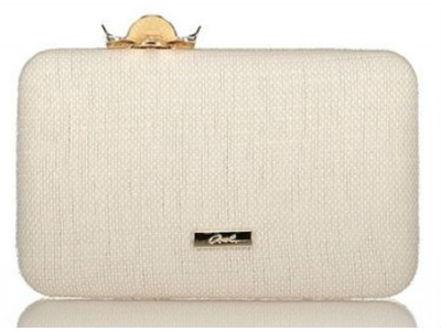 Axel Lea clutch with flower closing 1005-1212 white