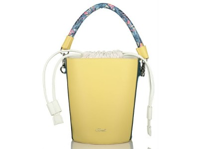Axel Kaila bucket bag with long strap 1010-2233 farm yellow