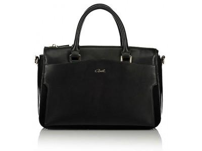 Axel Zoe handbag with long adjustable strap 1010-2275 black