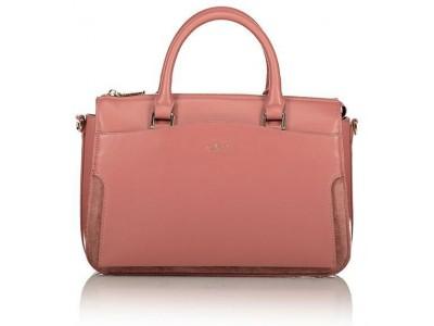 Axel Zoe handbag with long adjustable strap 1010-2275 pink carnation