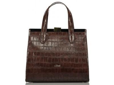 Axel Dahlia croco handbag 1010-2288 cacao