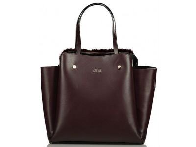 Axel Aura bag with fur 1010-2291 blackberry