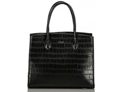 Axel Dahlia croco bag 1010-2305 black