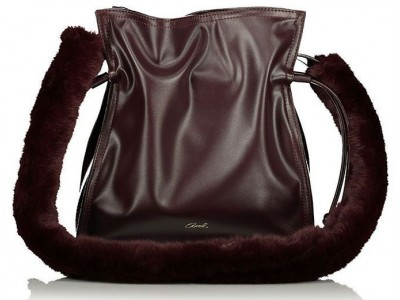 Axel Aura bag with fur 1010-2315 blackberry
