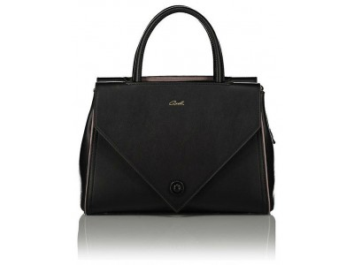 Axel Taylor handbag middle zip and double flap 1010-2319 black