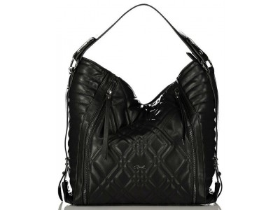 Axel Caliste bag with stiching detail 1010-2340 black