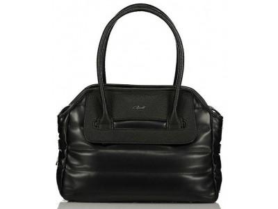 Axel Poppy handbag with horizontal stitching 1010-2342 black