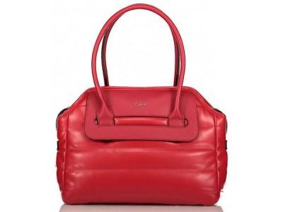 Axel Poppy handbag with horizontal stitching 1010-2342 red