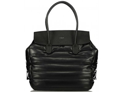 Axel handbag Poppy with horizontal stitching 1010-2343 black