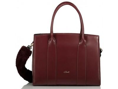 Axel Kate handbag with removable strap 1010-2350 bordo