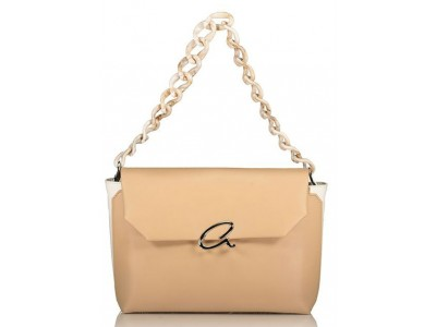 Axel Jenna bag with plexi glass chain strap 1010-2370 beige