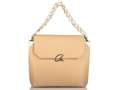 Axel Jenna bag with plexi glass chain strap 1010-2371 beige