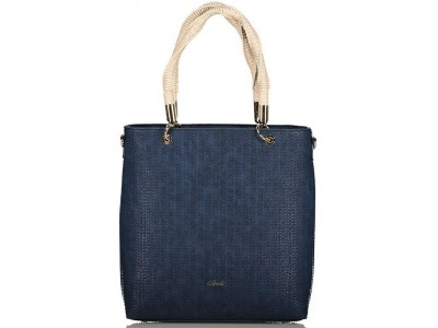 Axel Ida bag with braided handle 1010-2372 navy