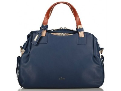 Axel Adelia handbag with top zipper 1010-2411 navy