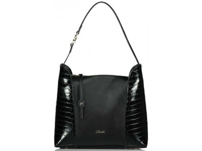 Axel Ivy croc shoulder bag 1010-2448 003 black