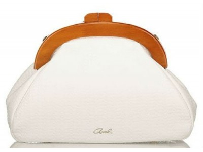 Axel Ida bag with wooden closing 1020-0372 white
