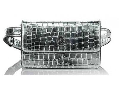 Axel xenia belt bag metallic croc effect 1021-0018  036 silver