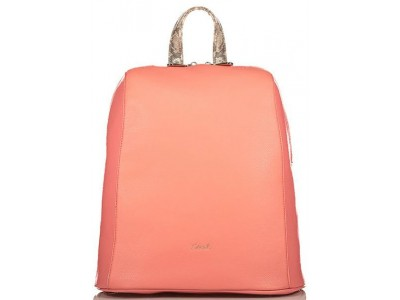 Axel Janetta backpack solid color 1023-0221 sunset pink