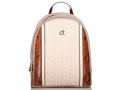 Axel Caroline backpack doublezip 1023-0270 004 cream