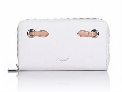 Axel Laetitia double zip wallet 1101-1120 white