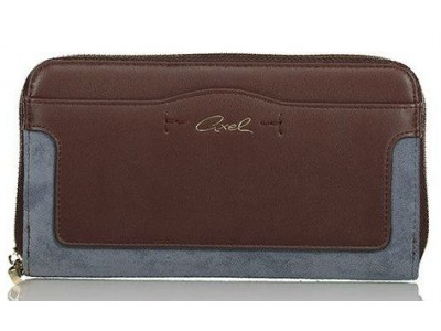 Axel Zoe wallet with hidden front pocket 1101-1127 cacao